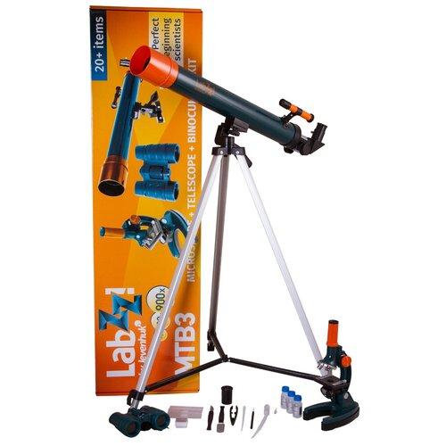 Фото - Телескоп + микроскоп LEVENHUK LabZZ MTВ3 синий/оранжевый/черный лупа levenhuk labzz c3 синий оранжевый