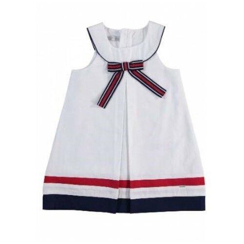 платье для девочки acoola pomelo цвет голубой 20220200368 400 размер 104 Платье для девочки Monna Rosa белое, размер 104-110