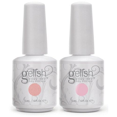 Набор для маникюра GELISH Gel Polish, 15 мл, light elegant/pink smoothie  - Купить