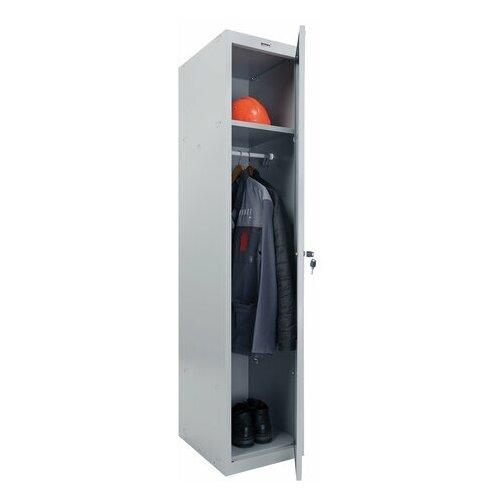 "BRABIX Шкаф металлический для одежды brabix ""lk 11-40"", усиленный, 1 секция, 1830х400х500 мм, 20 кг, 291130, s230br403102"