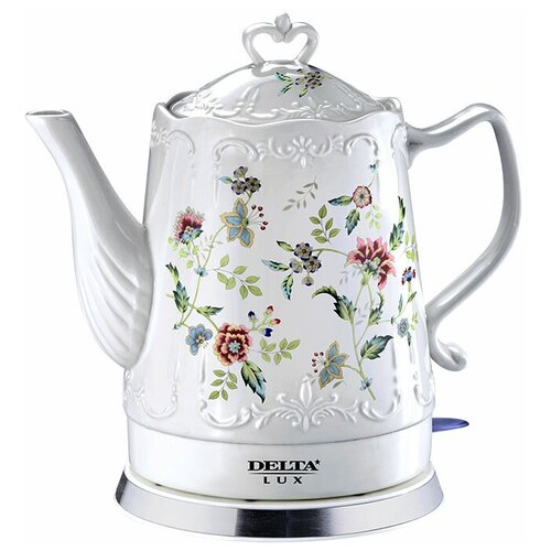 Чайник DELTA LUX DL-1239, белый чайник delta lux dl 1204b 1 7l black