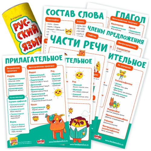 Плакат Банда умников Русский язык УМ118 8 шт. в тубусе
