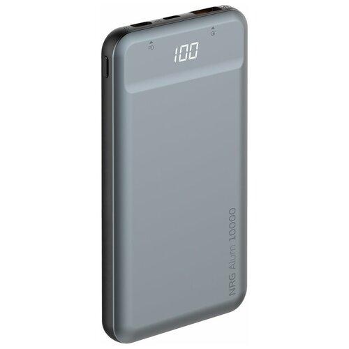 Аккумулятор Deppa NRG Alum QC3.0 Power Delivery 10000 mAh, графит аккумулятор deppa nrg power compact 10000 mah серый