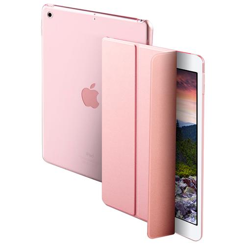 Чехол-обложка MyPads для Apple iPad mini 1 тонкий умный кожаный с функцией смарт включения-выключения розовый