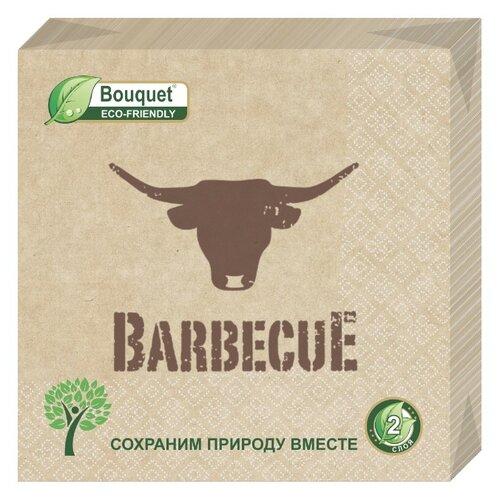 "Купить Салфетки бумажные eco-friendly Bouquet, Крафт ""Barbecue"" 1 упаковка по 25 штук, размер 33х33 сантиметра, 2-х слойные."