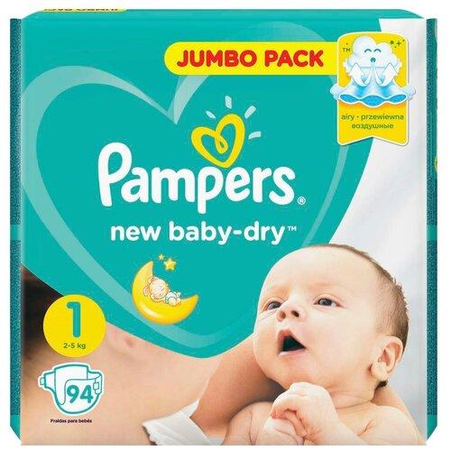 Фото - Pampers подгузники New Baby Dry 1 (2-5 кг), 94 шт. pampers подгузники new baby dry 1 2 5 кг 27 шт