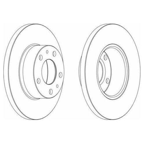 Фото - Тормозной диск Ferodo DDF758 для Citroen JUMPER; Fiat DUCATO; Peugeot BOXER тормозной диск задний miles k010676 280x16 для citroen jumper fiat ducato peugeot boxer