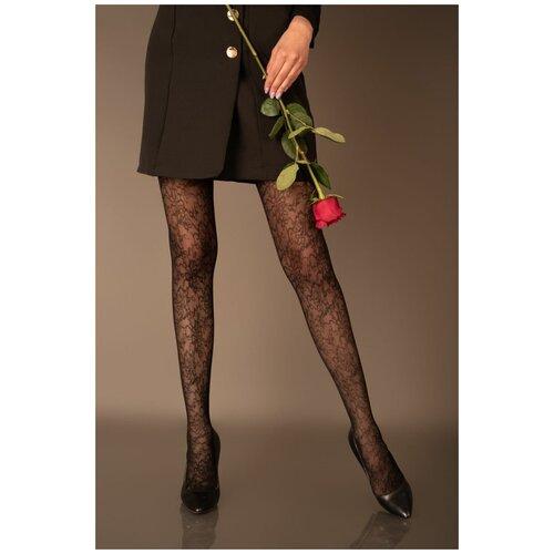 Livia Corsetti Оригинальные женские колготки Anisalan с цветочным узором, черный, 2 размер