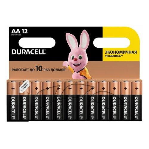 Фото - Батарейки комплект 12 шт., DURACELL Basic, AA (LR06, 15А), алкалиновые, пальчиковые, блистер, 1 шт. батарейки pkcell aa пальчиковые 12 шт уп