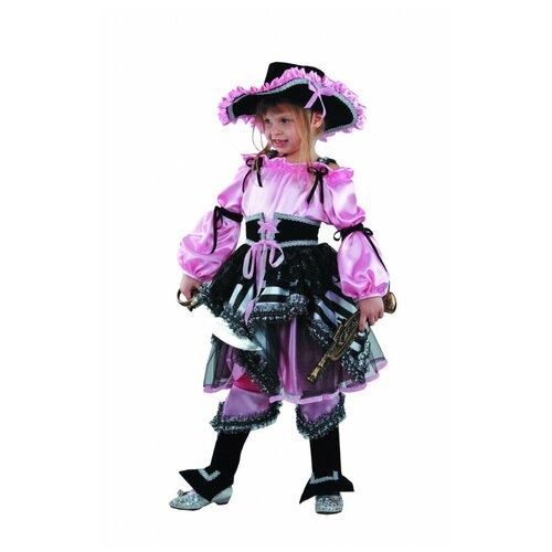 Купить Костюм Батик Пиратка (456), розовый/черный, размер 146, Карнавальные костюмы