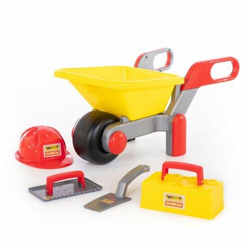 Купить Полесье, Тачка №4 + набор каменщика №3 (4 элемента), 50212 , Cavallino, Наборы в песочницу