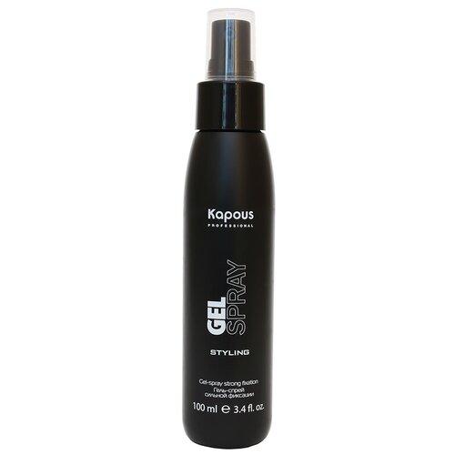 Kapous Professional гель-спрей для волос сильной фиксации Gel Spray, 100 мл australian gold спрей гель spf 15 spray gel bronzer 237 мл