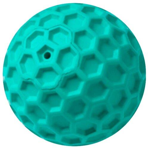 HOMEPET SILVER SERIES Ф 8 см игрушка для собак мяч для чистки зубов бирюзовый каучук