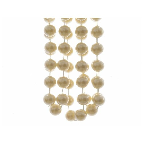 Бусы пластиковые гигант, цвет: перламутровые, 20 мм, 2,7 м, Kaemingk 001714