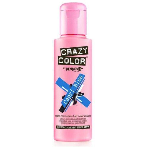 Купить Краситель прямого действия Crazy Color Semi-Permanent Hair Color Cream Capri Blue 44, 100 мл