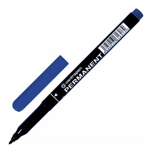 Купить Маркер перманентный CENTROPEN 2536, синий, трехгранная форма захвата, круглый, 1 мм, 6 2536 0106, 8 шт., Маркеры