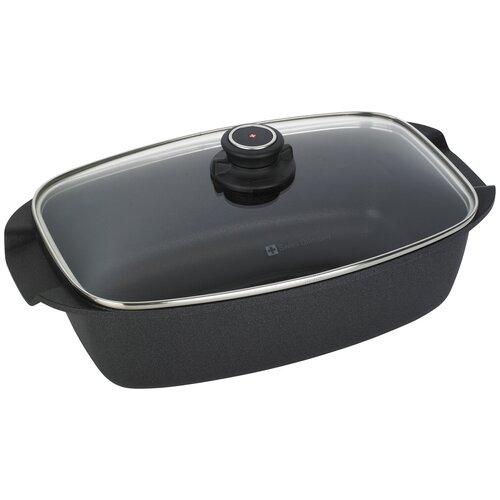 Сковорода-жаровня Swiss Diamond XD Classic+ XD 61033C, 33 см, с крышкой, черный сковорода гриль classic 28х28 см глубокая xd 66281 swiss diamond