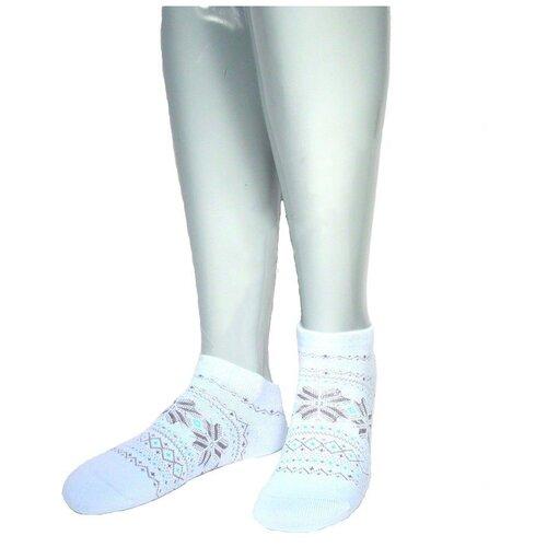 Носки женские Grinston 17D4 теплые укороченные, Голубой, 23 (размер обуви 35-37)