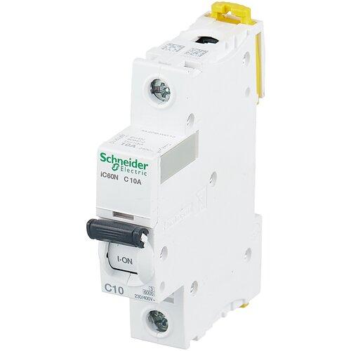 Автоматический выключатель Schneider Electric Acti 9 iC60N 1P (C) 6кА 10 А автоматический выключатель schneider electric acti 9 ic60n 1p c 6ка 3 а