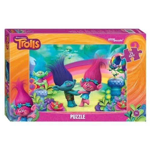 Купить Степ Пазл Макси-пазлы Trolls, 24 элемента, Step puzzle, Пазлы