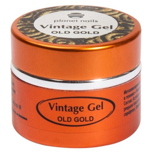 Фото - Паста гелевая planet nails Vintage Gel для чеканки old gold planet nails кисть гелевая овальная из синтетического волоса 6 оранжевый