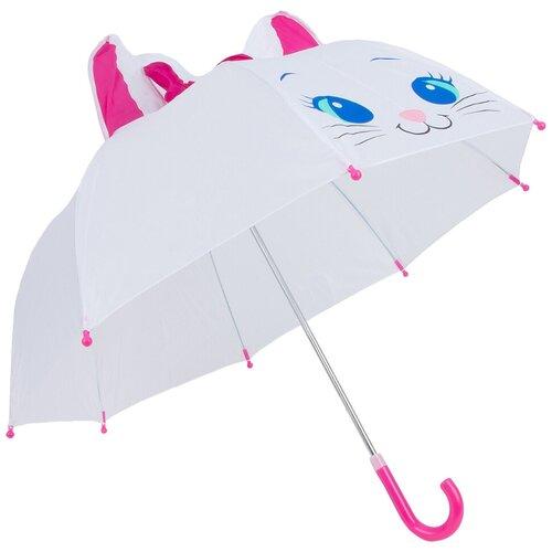 Зонт Mary Poppins белый/розовый