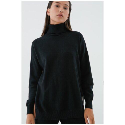 Удлиненный свитер 0420626826 Черный 42