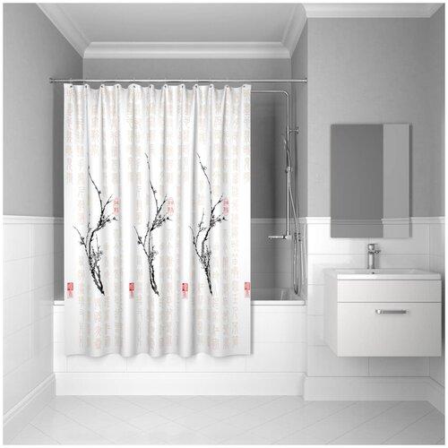 Фото - Штора для ванной IDDIS SCID100P 200x200 белый штора для ванны iddis cream balls 200x200 бежевая