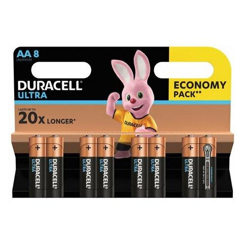 Фото - Батарейки комплект 8 шт., DURACELL Ultra Power, AA (LR06, 15А), алкалиновые, пальчиковые, блистер, 1 шт. батарейки pkcell aa пальчиковые 12 шт уп