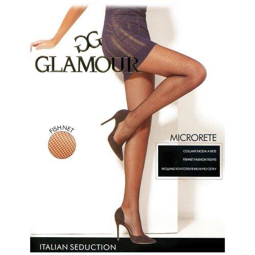 Колготки Glamour Microrete Collant, размер 2-S(1/2-S), nero (черный)