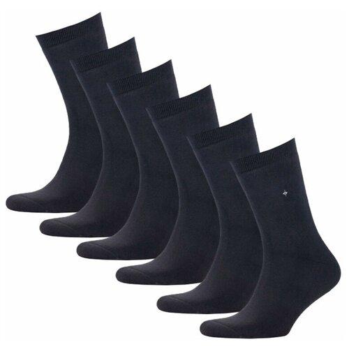 Мужские черные теплые носки с махрой, р-р 41-42, 6 пар