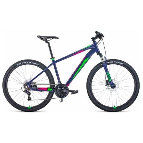 Горный (MTB) велосипед Forward Apache 27,5 3.2 Disc (2021) 21 фиолетовый/зеленый (требует финальной сборки) горный mtb велосипед forward apache 27 5 1 2 s 2021 желтый зеленый 19 требует финальной сборки