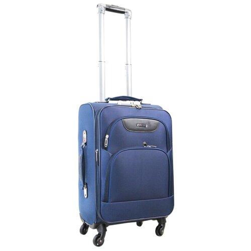 Фото - Чемодан Rion+ 432 59 л, синий чемодан rion 418 3 62 л серый