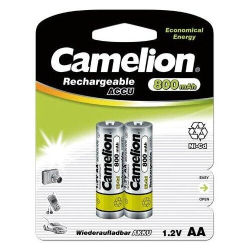 Фото - Аккумулятор Ni-Cd 800 мА·ч Camelion NC-AA800, 2 шт. аккумулятор ni mh 1000 ма·ч camelion nh aaa1100 2 шт
