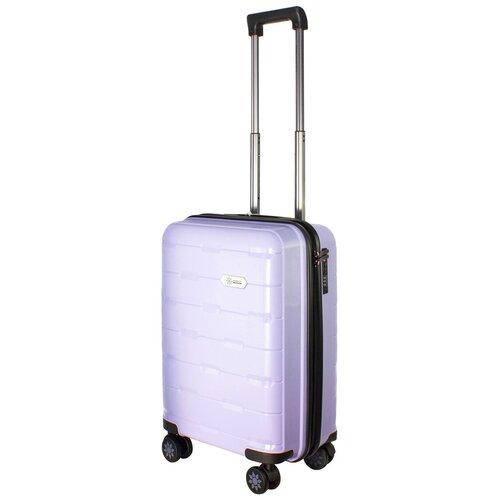 Фото - Чемодан PROFFI Tour Fashion S 36 л, фиолетовый чемодан proffi travel tour fashion 24 pp пластиковый средний 64 5х47х27 желтый