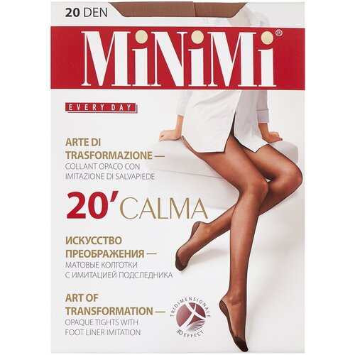 Колготки MiNiMi Calma, 20 den, размер 2-S/M, daino (бежевый) колготки minimi calma 20 den размер 4 l daino бежевый