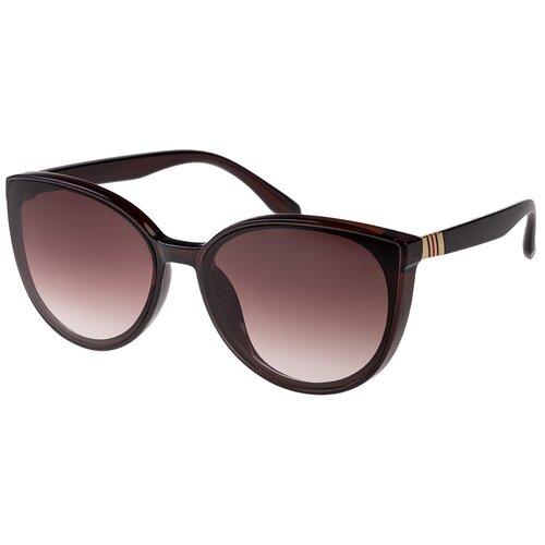 Солнцезащитные очки женские/Очки солнцезащитные женские/Солнечные очки женские/Очки солнечные женские/21kdgaer1202126-1c2vr коричневый/Vittorio Richi/Кошачий глаз/модные