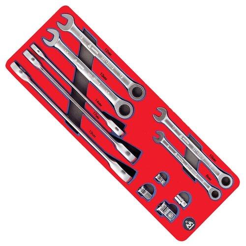 Фото - Набор гаечных ключей МАСТАК 5-21311, 11 предм., красный набор отверток мастак 04 20c 20 предм красный синий