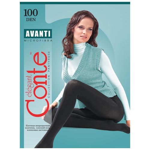 Фото - Колготки Conte Elegant Avanti, 100 den, размер 4, nero (черный) колготки conte elegant nadin размер 152 158 nero