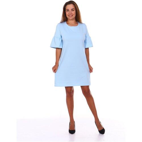 платье befree 1911097509 женское цвет зеленый 17 однотонный р р 48 l 170 Платье женское Stella Tex Валли, 48 р-р, голубой