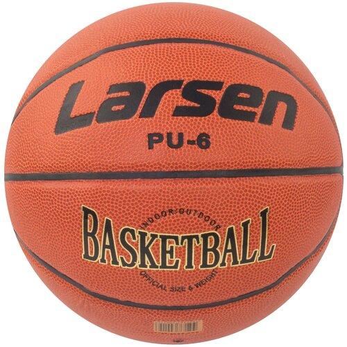 Баскетбольный мяч Larsen PU6, р. 6 коричневый баскетбольный мяч larsen pu6 р 6