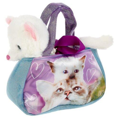 Купить Мягкая игрушка Мой питомец Кошка в сумочке, 16 см, Мягкие игрушки