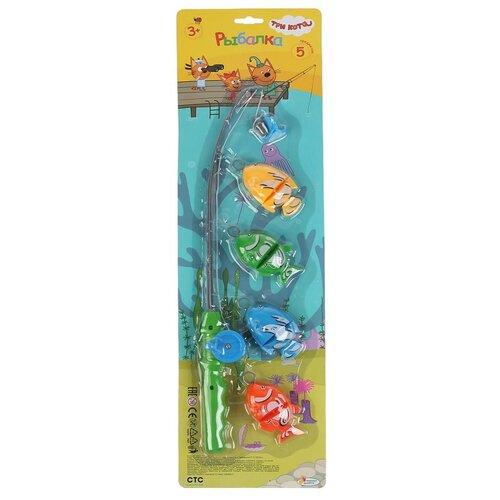 Рыбалка Играем вместе Три кота, на картоне (2001V065-R) игрушки для ванны играем вместе игра рыбалка три кота k095 h19006 r