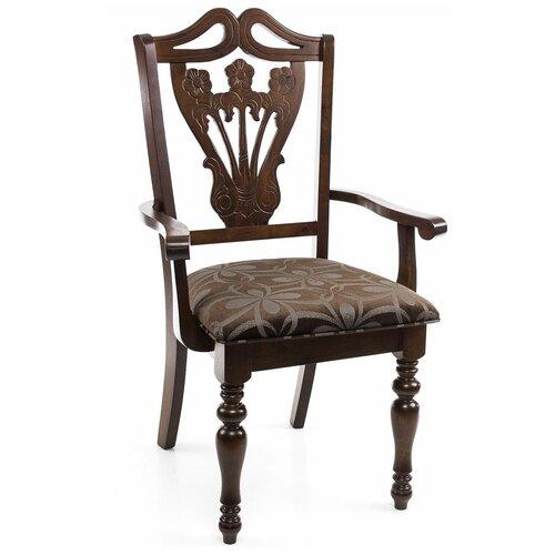 Фото - Стул Woodville Mengen с подлокотниками, дерево/текстиль, цвет: cappuccino стул деревянный woodville demer cappuccino