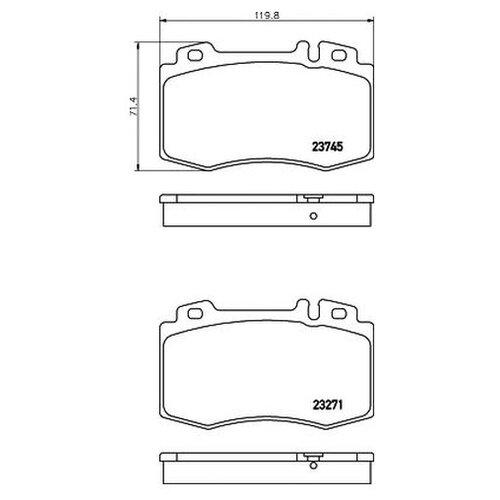 Комплект тормозных колодок Mintex MDB2598 для Mercedes C-CLASS CL203,S203,W203, CLK A209,C209, CLS C219, E-CLASS S211 недорого