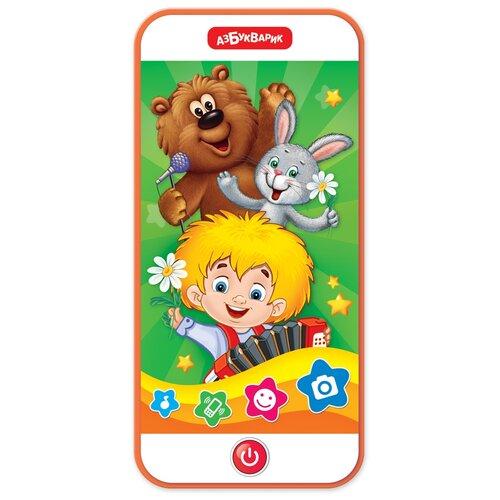 Купить Развивающая игрушка Азбукварик Музыкальный смартфончик Суперхиты Пой со мной, разноцветный, Развивающие игрушки