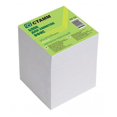 Купить СТАММ Блок для записи Офис, 9х9х9 см (БЗ 52) белый, Бумага для заметок