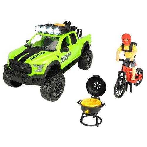 dickie toys набор dickie toys команда спасения sos Набор техники Dickie Toys Playlife Bike Trail (3835003), зеленый/красный