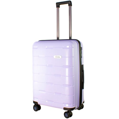 Фото - Чемодан PROFFI Tour Fashion M 62 л, фиолетовый чемодан proffi travel tour fashion 24 pp пластиковый средний 64 5х47х27 желтый