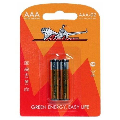 Фото - Батарейка Airline LR03/AAA, 2 шт. батарейка sonnen aaa lr03 оптимальный заряд 2 шт